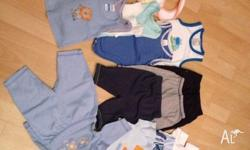 37 articles of baby boy clothing. All in great