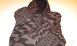 Brown/Black Size 14 Zip up hoodie Excellent condition