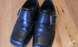 Black Shoes Boys size 28 (i think thats a size 11) worn
