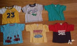 Bundle of 6 Summer Tshirts. All in good condition. From