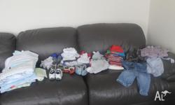 A huge variety of boys clothes varying in 00-18mths.