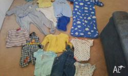 Mixed Box of Boys Baby Clothes Size 1 - Good to Very