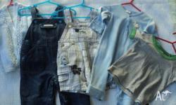 Boys Clothing Size 00 2x Overalls 1x jacket 1x long