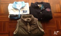 2 boys jackets size 7 and a vest size 7, in excellent