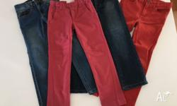 2 pairs of straight & skinny leg Urban Jeans size 6 & 7