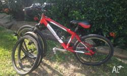 24 inch Boys Hasa Mountain Bike. Includes two spare new