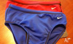 2 pair of Boys Nike Speedo Swimmers Red�Blue Size 26
