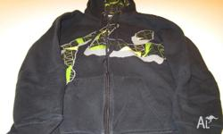 Size 16 Black/Green/Grey zip up Hoodie Very good