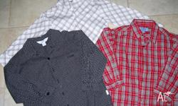 BOYS SHIRTS LONG SLEEVES SIZE 5 EXCELLENT CONDITION
