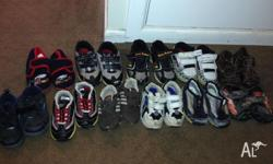 Each pair of shoes is $2. They are in good used