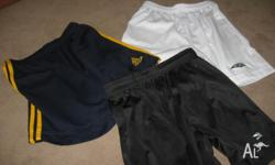 Umbro white shorts size 14 Adidas navy shorts with