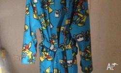 BOYS SIMPSONS DRESSING GOWN WITH BELT SIZE 8-10 IN