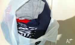 10 items of boys clothing. Assorted. Tops, jumper,