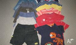 7no t-shirts + 6no shorts suit 3-4yr boy for play /