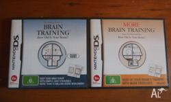 Two Brain Training DS games for sale. Brain Training