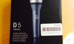 Brand new in box with receipt. Quality AKG D5 Vocal