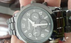 Brand new boxed gorgeous men's watch in gunmetal