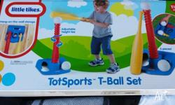 Brand new in box Great for presents Baseball set .