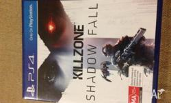 New sealed unused Killzone:Shadow Fall game on the PS4.