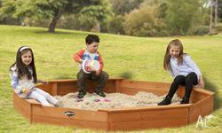 The Lifespan Large Octagonal Sandpit is made from