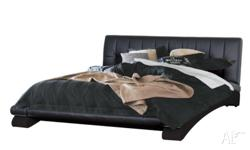 Selling a black brand new leather bed with black and
