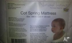 This quality innerspring mattress has a quilted cotton