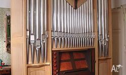 Brand new Pipe Organ for sale. Mechanical action,slider