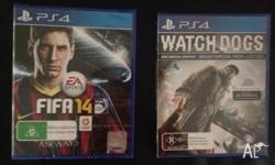 FIFA 14 & Watchdogs PS4 still in packaging available