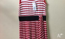 Brand new red/white striped dress on sale Size 10 25$