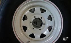 "2 New 16 "" Sunraysia Rims with legal 265/70 R 16 Sava"