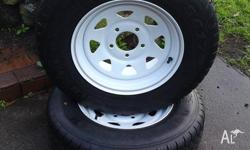 BRAND NEW 2X 14 INCH RIMS AND TYRES. SUNRASIA STYLE