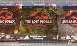 brand new sealed, limited edition jurassic park trilogy