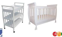 This is a package of Our new Sleigh baby cot and Sleigh