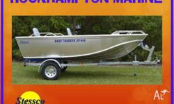 BRAND NEW STESSCO BASS TRACKER SF410 BOAT & TRAILER