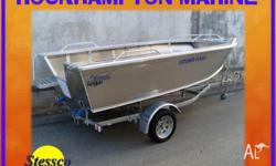 BRAND NEW STESSCO CATCHER FL430 BOAT, TRAILER, TOHATSU