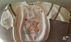 Brand new sweater, fits 2 yrs, made from cotton. pick