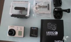 This is a white Go Pro and is BRAND NEW but has been