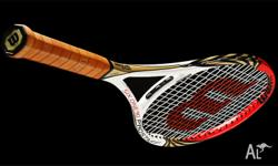 Brand New Wilson Six One 90 tennis racquet. Plastic on