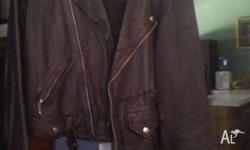 Quality Brando style Atelier black leather bike jacket