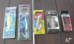Assorted bream lures. all new in packs. (6) in total