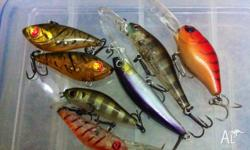 Up for sale some quality bream hard body lures. Will