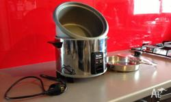 Large rice cooker with steamer insert, works perfectly,