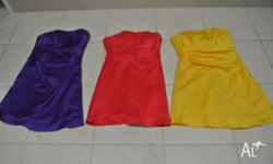 I have for sale 3 Bridesmaids Dresses only warn once.