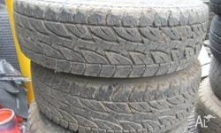 LT 215/75 R15 TYRES AS NEW SET OF 4 PLEASE CALL US FOR