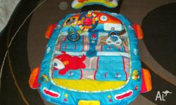 The Bright Starts Prop Mat is a soft play area designed