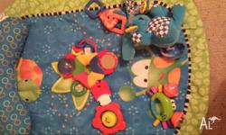 Bright starts baby rug with head rest and assorted