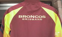 BRISBANE BRONCO'S SUPPORTERS JACKET SIZE 14 AS NEW