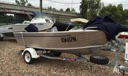 Brooker 410 Fisherman Tinny Yamaha 40hp with Electric