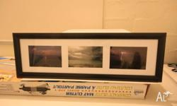 3 in1 framed print of broome lightning Size 25x 35cm If