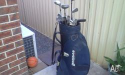 Brosnan Golf Clubs with Golf Bag and 40 good brands,